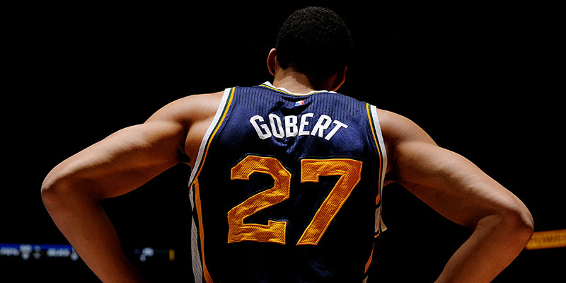 85fca2c468d Gobert, drafted 46th overall in the 2013 Draft -- then traded to the Jazz  on Draft night -- recorded just 2.3 points and 3.4 rebounds a night in 45  ...